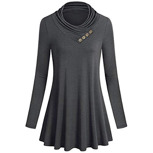- Clearance! Dressin Women's Button Long Sleeve T-Shirts Casual Loose Tops Tunic Blouse Features: