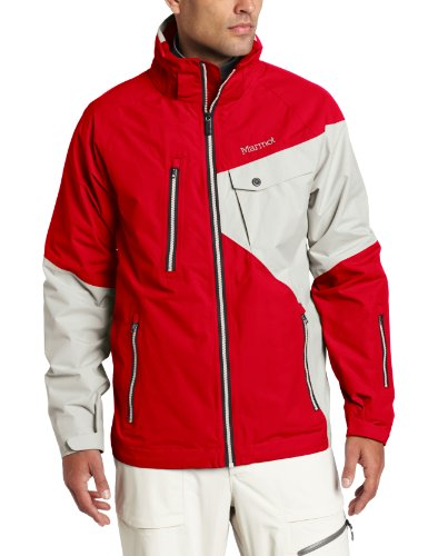Marmot Men's Mantra Jacket, Team Red/Whitestone, Medium
