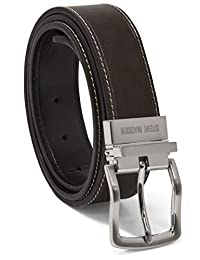 Steve Madden - Cinturón de piel reversible para hombre, estilo informal, para todos los días
