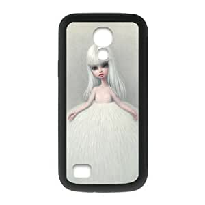 Cute Doll Girl Personalized Custom Phone Case For SamSung Galaxy S4 mini (Laser Technology) Plastic And TPU Case Cover Skin