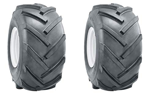 AL Two 15x6.00-6 15x600-6 R1 Lug Super Traction Tires Lawn Tractor Heavy Duty 6 Ply Rated