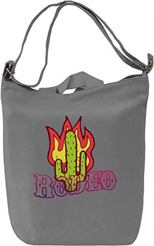 Rodeo Borsa Giornaliera Canvas Canvas Day Bag| 100% Premium Cotton Canvas| DTG Printing|