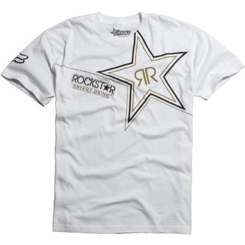 Fox Racing Wear (Fox Racing Rockstar Golden Men's Short-Sleeve Race Wear Shirt - White / Medium)