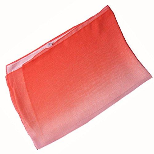Mousseline Femmes Long Couleur Echarpes 50cm 160 En Écharpe Orange Et Mode Gradient Foulards Châle Amlaiworld Wrap Multicolore 7t0xq0