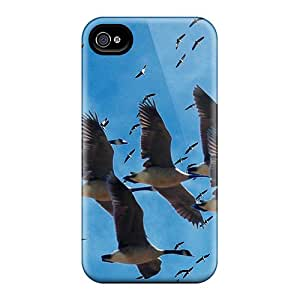 New Style Lawshop Cranes Migration Premium Tpu Cover Case For Iphone 4/4s