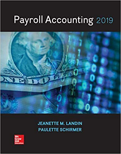 Amazon Com Payroll Accounting 2019 9781259917073 Jeanette Landin