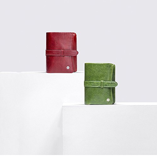 Monedero Real Casual Corto Fold Green Lovely Tri Leather Color rabbit Red Lady Fqn0wp5