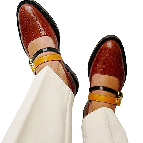 LAICIGO Womens Leather Penny Loafer Casual Flat Shoes for Women Ladies Girls