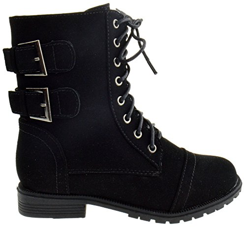 QQ Girls Cozy 91 Girls Lace Up Combat Boots