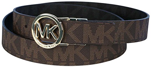MICHAEL Michael Kors Reversible Belt with MK Logo Plaque - Small by MICHAEL Michael Kors