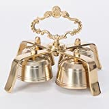 Traditional Style Church Sanctus Bells, Church Bell, Communion Bell, Hand Bell, Sacristy Bell in Solid Brass - Chalice (CCG-348)