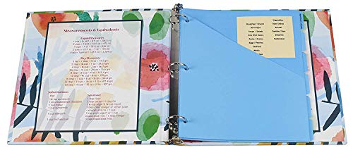 Meadowsweet Kitchens Recipe Binder Organizer Gift Set with Recipe Cards and Plastic Protector Sheets (Watercolors) by Meadowsweet Kitchens (Image #1)