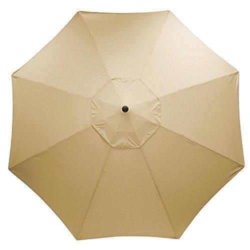 11 ft. Aluminum Market Patio Umbrella in Sunbrella Antique Beige