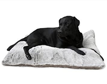 Funda Para Cama Perro Royal Fur Plata 100x70cm Lex&Max