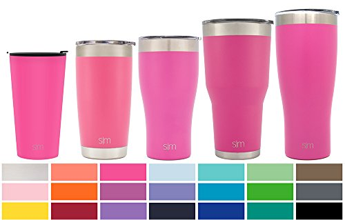 Simple Modern Pint 16oz Tumbler - Vacuum Insulated Double-Walled 18/8 Stainless Steel Hydro Travel Mug - Coffee Cup Flask - Cotton Candy Pink