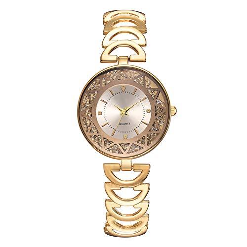 Women Temperament Fashion Steel Belt Ladies Diamond Men and Women Gift Quartz Watch #03,As The Photo show1