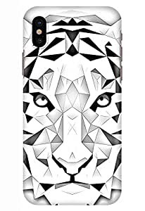Stylizedd Iphone Xs/Iphone X Snap Classic Matte Case Cover Matte Finish - Poly Tiger - White