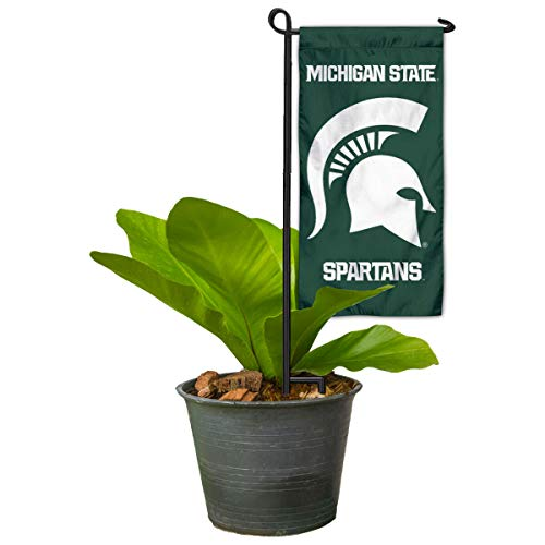 (Michigan State Spartans Mini Garden and Flower Pot Flag Topper )