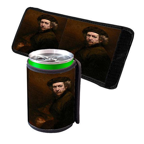 Rembrandt Van Rijn Self-Portrait - Insulated Neoprene Beverage Can Beer Bottle Drink Cooler Sleeve