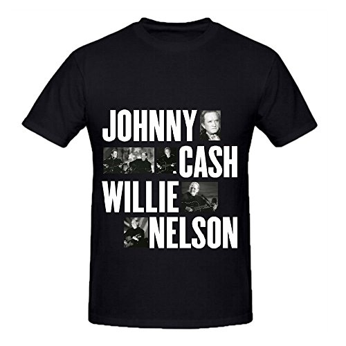 Willie Nelson Vh1 Storytellers Johnny Mens Crew Neck Big And Tall Black (One Direction Neck Less compare prices)