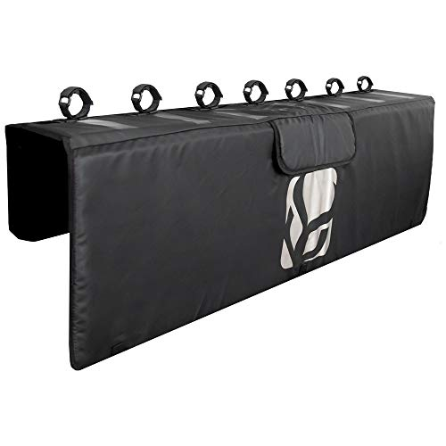 "Demon Tailgate Pad for Mountain Bikes with Tool Pocket for Mechanic Tools/Tailgate Cover with Secure Bike Frame Straps (Large (62"" Wide) for Full Size Pickups)"