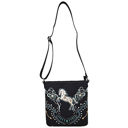 26b80b12cc Western Cowgirl Style Horse Cross Body Handbags Concealed Carry Purses  Country Women Single Shoulder Bag