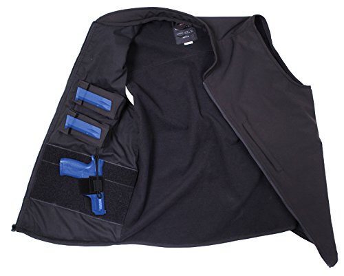 Rothco Concealed Carry Soft Shell Vest, Black, X-Large