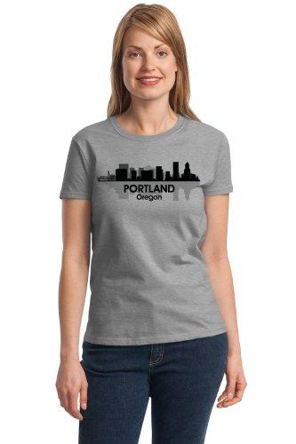 PORTLAND, OR CITY SKYLINE Ladies' T-shirt / Portlandia, Beervana Oregon Tee