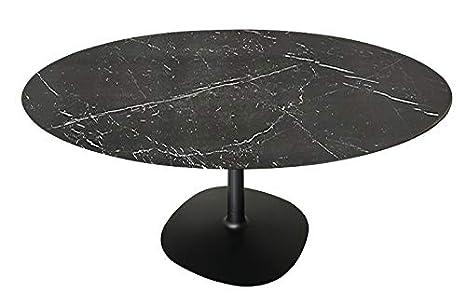 Tavoli Soggiorno Kartell.Kartell Multiplo Tavolo Da Pranzo Rotondo Gres Nero