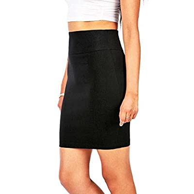 Ambiance Women's Juniors Stretchy Bodycon Pencil Skirt at Women's Clothing store