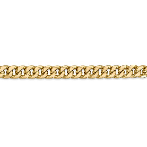 Mia Diamonds 14k Yellow Gold Hollow Miami Cuban Bracelet or Anklet -8'' (8in x 6mm) by Unknown (Image #3)