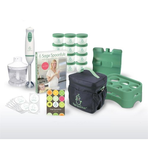 Baby Food Making & Storage 21 Pc Kit - With Blender, Jars, Tray, On The Go Bag And More! by Sage Spoonfuls