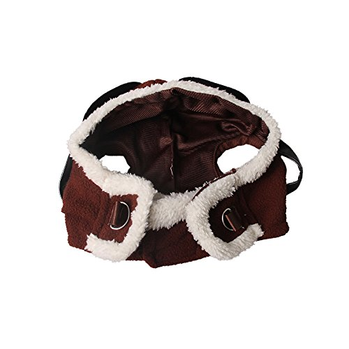 Pet Supplies Dog Hat Red Scarf Pilots Warm Hat (one size) by ABLAZE ZAI (Image #5)