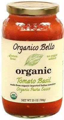 Organico Bello Organic Pasta Sauce Tomato Basil - 25 oz