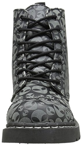 The Combat T k Black Boots Alien Glow Eye Women's In 7 Dark u Anarchic Shoes v75r6vxq