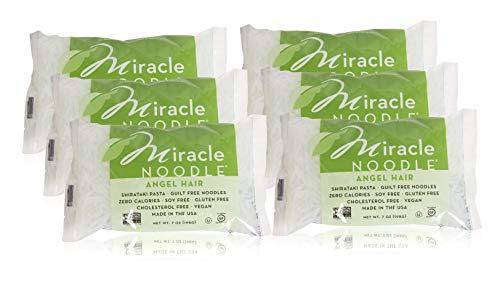 Miracle Noodle Shirataki Angel Hair Pasta, Gluten-Free, Zero Carb, Keto, Vegan, Soy Free, Paleo, Blood Sugar Friendly, 7oz (Pack of ()