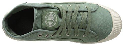 zapatillas Verde de mujer LACE MID FLEX Palladium altas lona deportivas qxtpOnwz