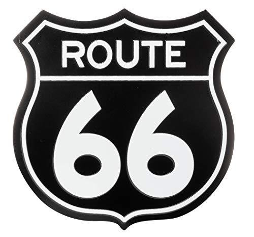 US Route 66 Road Sign Souvenir Refrigerator Magnet (Black)