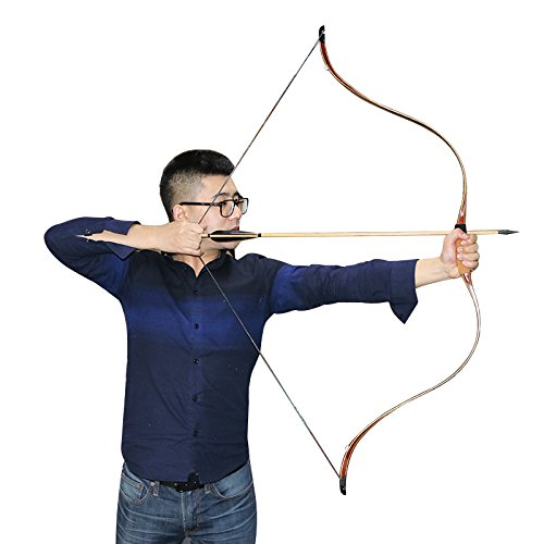 35~50 Pound Traditional Laminated Archery Longbows Maple and Bamboo  Material Archery Recurve Bows Hunting Horsebow Archery Bows from Buffalo