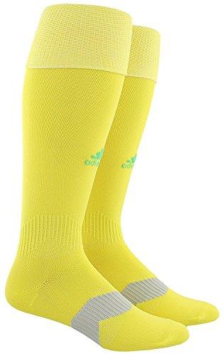 adidas Metro IV Soccer Socks, Bright YellowEnergy Green