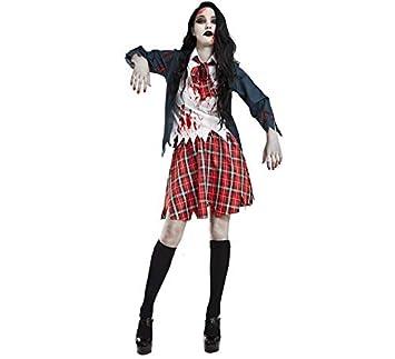 Disfraz de Colegiala Zombie para mujer: Amazon.es: Juguetes y juegos