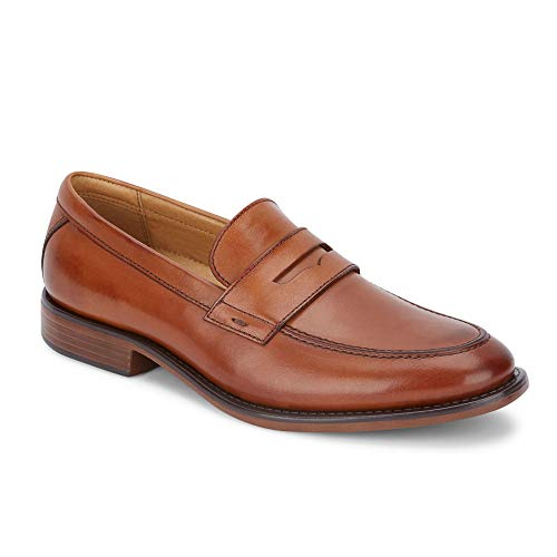 Dockers Mens Harmon Leather Dress Penny Loafer Shoe, Butterscotch, 13 ()