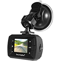 SecurityMan Car Dash Camera Recorder with Clear HD Video Full 1080P Auto Accident Sensor, Day & Night mode Small Covert with Adjustable Windshield Dashboard Suction Mount, Uber Lyft (CARCAMMICRO)