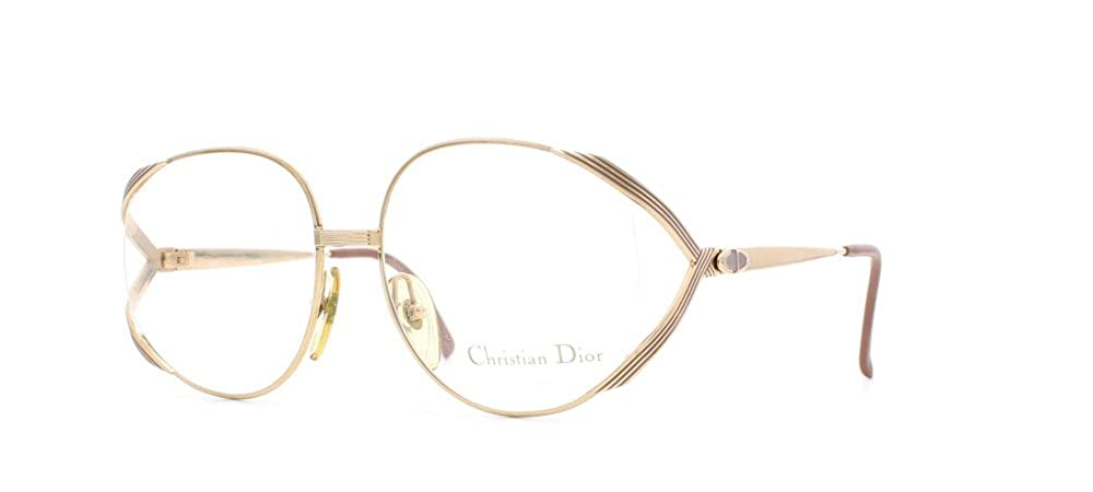 389e7ced66f Amazon.com  Christian Dior 2387 42 Gold Authentic Women Vintage Eyeglasses  Frame  Clothing