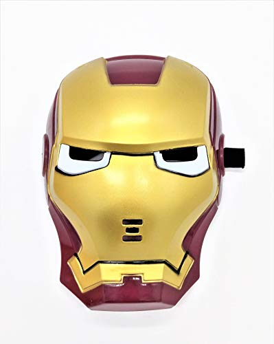 Premium Iron Man Face Mask with LED Eyes That Light Up! (Batteries Included) -