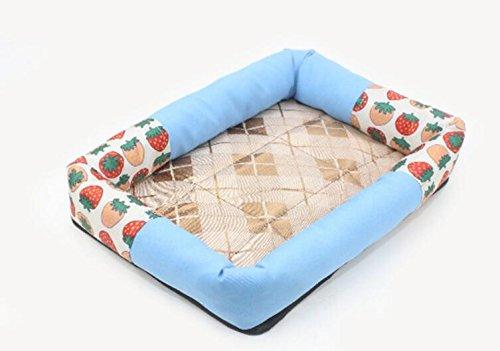 Happy- little -bear Impermeabile Pet Dog Bed Puppy House Kennel Cat Nest Mat Blu M