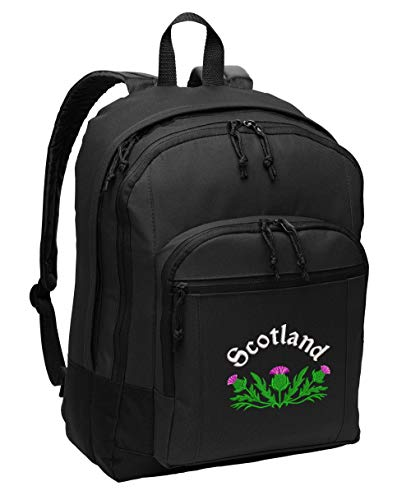 (Scottish Thistle Personalized Embroidered Backpack)