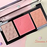 Sivanna Colours 3-in-1 Sugar Peach Box with Highlighter, Bronzer, Eyeshadow