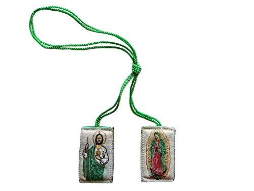 Angelitos de Mexico Escapulario De San Judas Tadeo con la Virgen de Guadalupe Jude the Apostle with Our Lady of Guadalupe