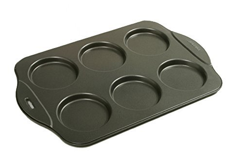Norpro Puffy Muffin Top Pan Makes 6 Non Stick High Rise Crown 4'' Wide .5'' Deep